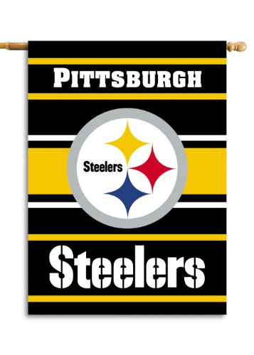 NFL Pittsburgh Steelers 2-Sided 28-by-40-Inch House Banner
