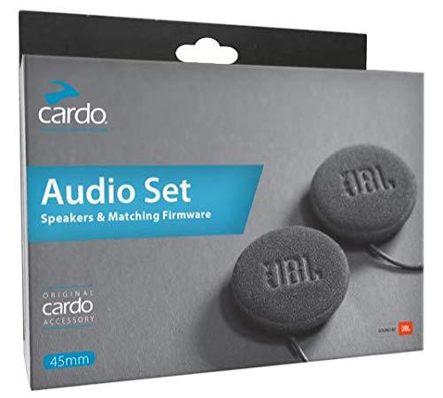 Cardo Motorcycle 45mm Audio Set, Works with Most Helmet Communicators (black, Single Pack) by Cardo