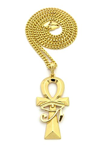 Fashion 21 Egyptian Polished Breath of Life Ankh Pendant 24