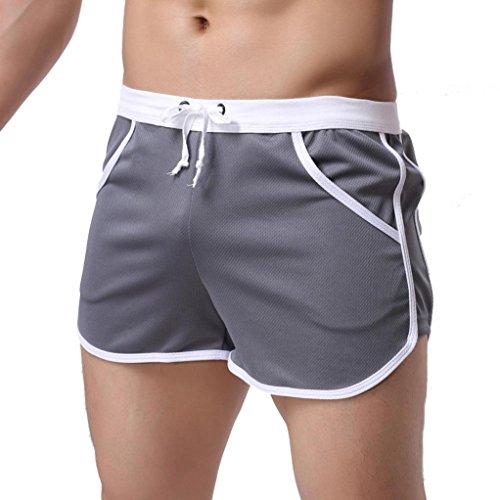 Men's Shorts,Neartime Loose Shorts Mens Trousers Sport Casual Pants (2XL, Gray)