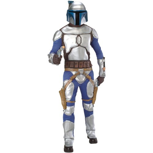 Haloween Costumes Couples (Deluxe Jango Fett Costume - Standard - Chest Size 44)