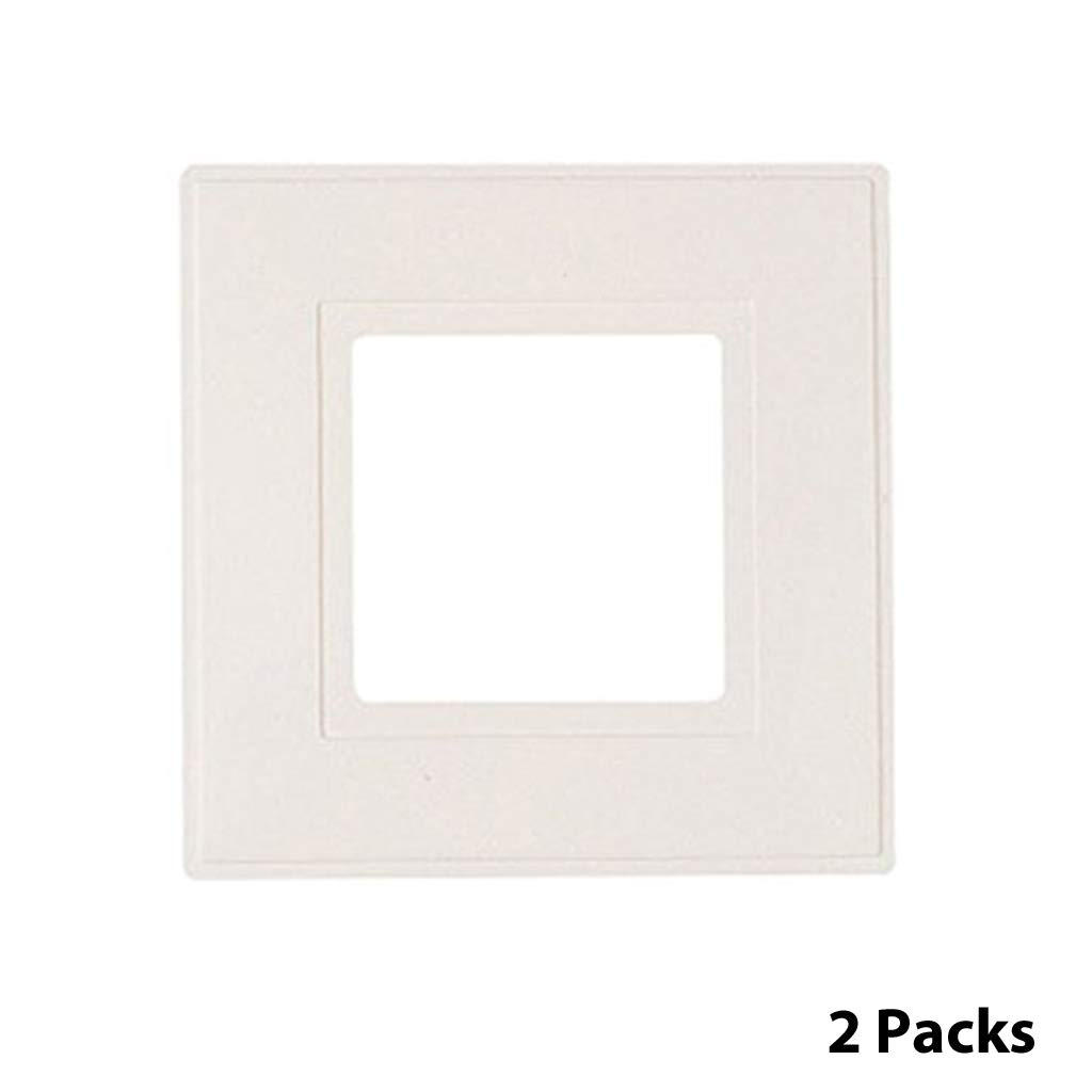 Dencon 8804 2p Light Switch Finger Plate White Pack Of 2 Amazon Wiring A 45 Amp Cooker Lighting