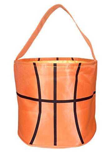 Halloween Bag Trick or Treat Tote Bag - Storage Bucket Basket (Basketball-BLANK) (Bucket Basketball)