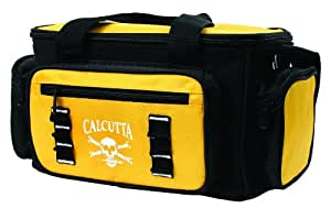 Calcutta Black and Yellow 3 Zip Tackle Bag with 4 Utility Boxes