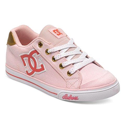 DC Chelsea Canvas Skate Shoe (Little Kid/Big Kid), Light Pink, 1.5 M US Little (Dc Pink Skateboard Shoe)
