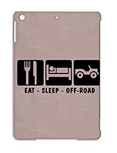 Black Shatterproof Cars Jeep Vehicles Road Offroaf Loosethreadz Sleep Off Eat For Ipad Air Or02 Offroad3 TPU Protective Hard Case
