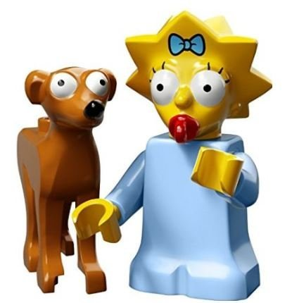 LEGO The Simpsons Series 2 Collectible Minifigure 71009 - Maggie Simpson (Santa's Little Helper)