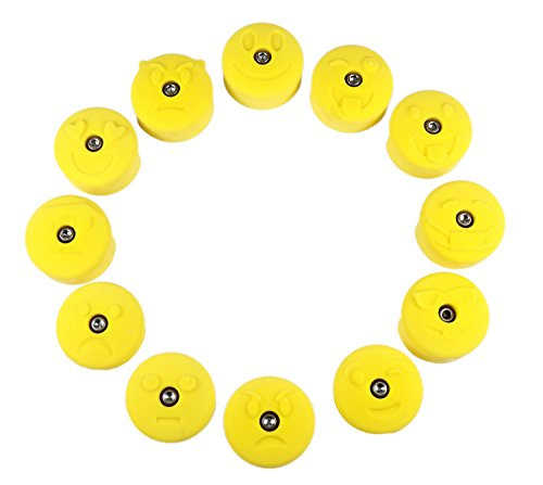12 Medium Emoji Jugs | Climbing Holds | Yellow by Atomik Climbing Holds
