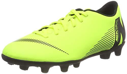 Nike Mercurial Vapor 12 Club FG/MG Soccer Cleats (9.5 D US, Volt/Black)