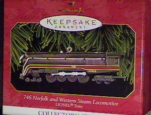 1 X 1999 Hallmark Ornament Norfolk And Western Steam Locomotive # 4 in Series