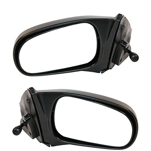 Door Hatchback Drivers Side Manual (1996-2000 Honda Civic 2-Door Coupe Hatchback Manual Remote Black Fixed Non-Folding Rear View Mirror Pair Set Left Driver AND Right Passenger Side (1996 96 1997 97 1998 98 1999 99 2000 00))