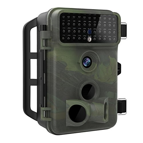 5 Mp Scouting Camera - MoKo [Newest Version] Trail Camera, Waterproof 16MP 1080P Full HD Hunting Camera Infrared Wildlife Camera with 65ft Night Vision, 2.4