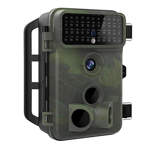 B&w Pir Camera - MoKo [Newest Version] Trail Camera, Waterproof 16MP 1080P Full HD Hunting Camera Infrared Wildlife Camera with 65ft Night Vision, 2.4