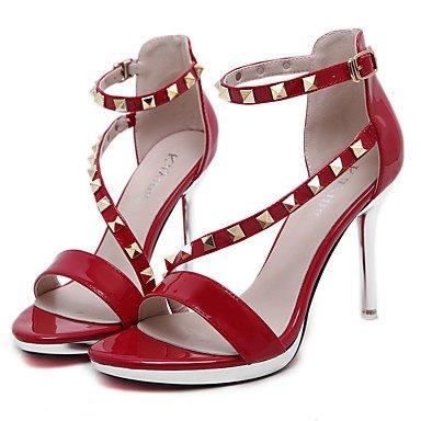 LvYuan Mujer-Tacón Stiletto-Zapatos del club Confort Innovador Gladiador-Sandalias-Boda Exterior Oficina y Trabajo Vestido Informal Deporte almond