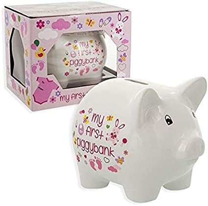 Amazon Com Baby Essentials My First Piggy Bank For Girl Toys Games