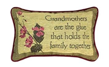Manual 12.5 x 8.5-Inch Decorative Throw Pillow, Grandmothers Are the Glue