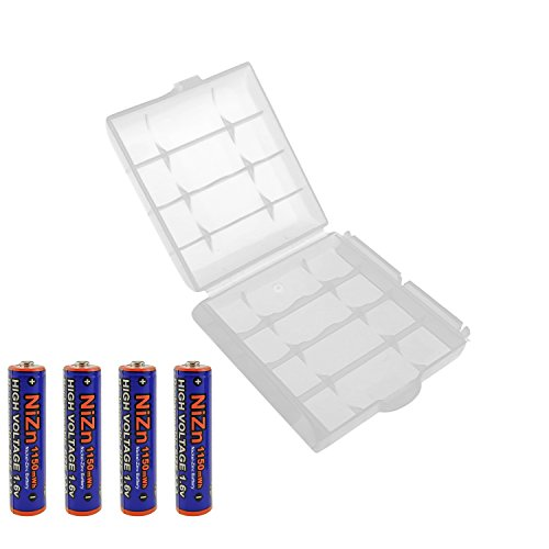 UltraCell Plus NiZn 1.6v AAA - 1150mWh High Voltage Rechargeable Batteries With Battery Storage Box (Combo for 4pcs AAA + 1pcs Clear Battery Box)