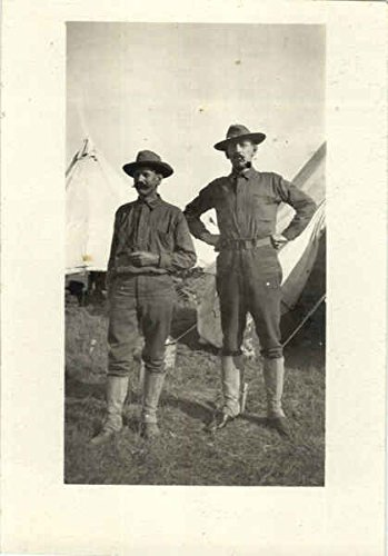 Teepee Postcard (Two Men Standing In front of TeePees Original Vintage Postcard)