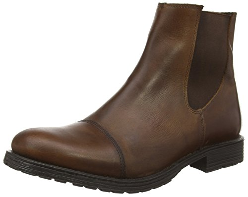 Jack & Jones Jjradnor Leather 1 Boot Brown Ston, Bottines à Doublure Homme Marron - Brown (Brown Stone)