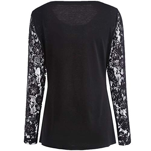 Lace Langarm Casual Rot CICIYONER Print Weihnachten Shirt Bluse ...