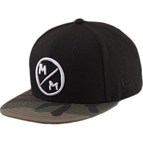 Metal Mulisha Logo Mens Hat - Metal Mulisha Men's New Era 9FIFTY Snapback Logo Baseball Cap Hat, Surplus Black, OSFM