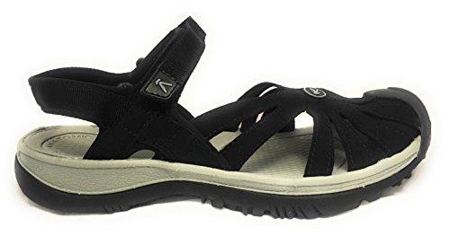 KEEN Women's Rose Sandal,Black/Neutral Gray,9 M US