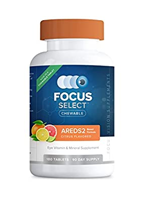 Focus Select AREDS2® Chewable Eye Vitamin-Mineral Supplement, 180 ct