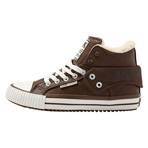 Braun Collo Brown Donna Alto a British Knights Sneaker Dk Roco qFP0wnAI1