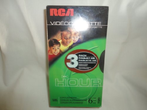 - RCA Video Cassette T120 VHS (3 in a Pack At Least 18 Hours of Recording Time ) By RCA