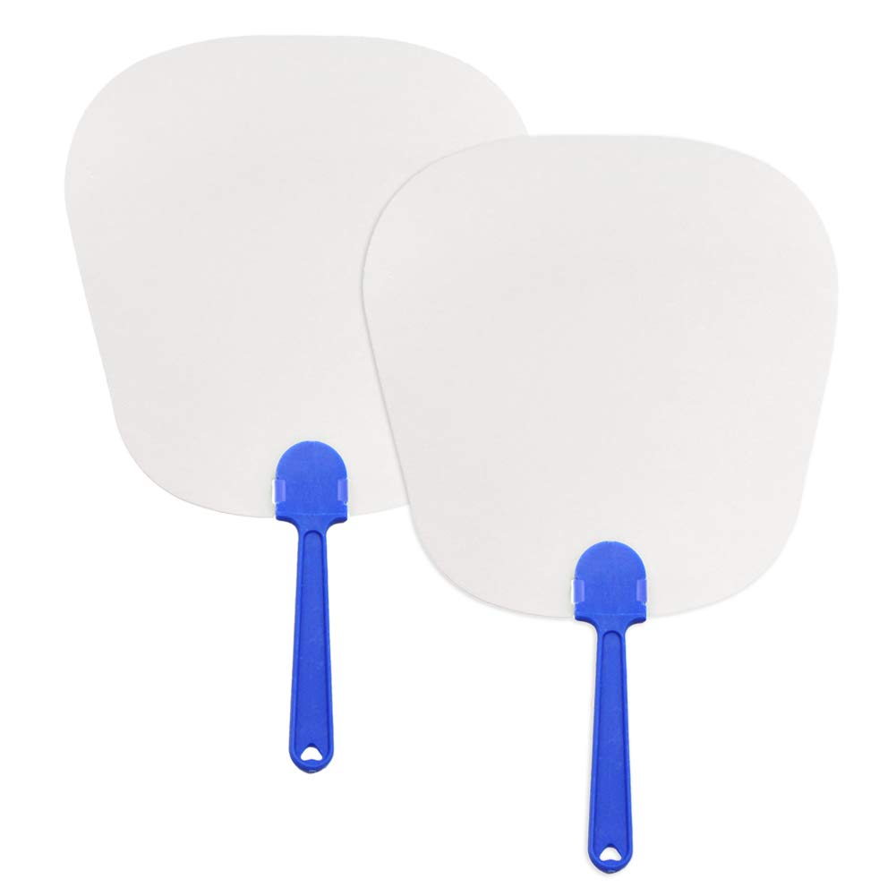 Aspire 300PCS Blank Cardstock Handle Fans for Painting 8 1/4 x 11 1/2 Inches Prototype Shape by Aspire