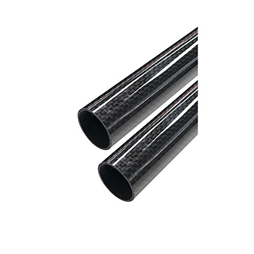 - ARRIS 23mm x 25mm x 500mm 3K Roll Wrapped 100% Pure Carbon Fiber Tube Glossy Surface (2PCS)
