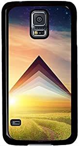 Aesthetic Grassland Arrow Samsung Galaxy S5 Case Pattern Monogram Durable Protective Case for Black Cover Skin - Compatible With Samsung Galaxy S5 SV i9600