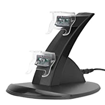 MoKo Imitation Xbox One Charging Station, Dual Gaming Controller LED Light Arc Charging Dock Stand for Xbox One, Black