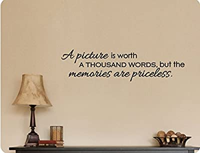 """46""""x12"""" A Picture is Worth A Thousand Words but Memories Are Priceless Wall Decal Sticker Art Mural Home DŽcor Quote"""