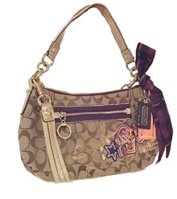 Coach Poppy Tartan Applique Groovy Crossbody Shoulder Bag