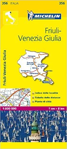 Friuli Italy Map.Michelin Map Italy Friuli Venezia Giulia 356 Maps Local Michelin
