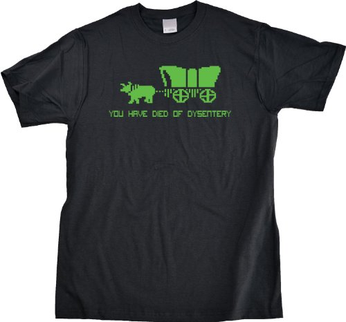 You Have Died Of Dysentery Unisex T-shirt Old School Oregon Trail Gamer