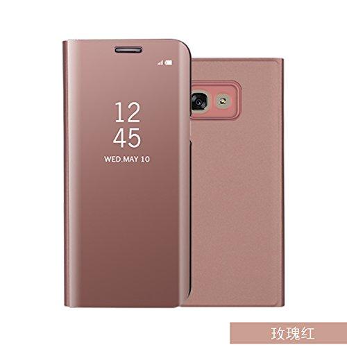 BCIT Samsung Galaxy A5 (2017) Funda -Modelo Inteligente Fecha/Hora Ver Espejo Brillante tirón del Caso Duro con para el...