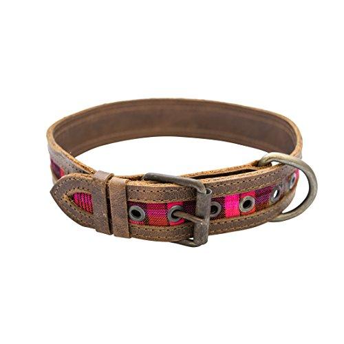 Hide & Drink Rustic Mayan Dog Collar Handmade Tropical ()