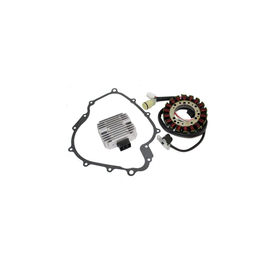 Caltric STATOR & REGULATOR RECTIFIER Fits YAMAHA GRIZZLY 660 YFM660 2002 2008 with GASKET ATV