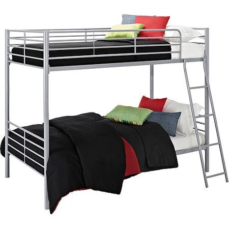 Amazon Com Bunk Beds Twin Over Twin Convertible Bunk Bed