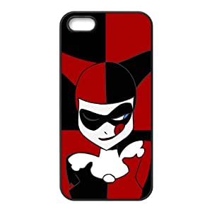 Black and red joker Cell Phone Case for Iphone 5s