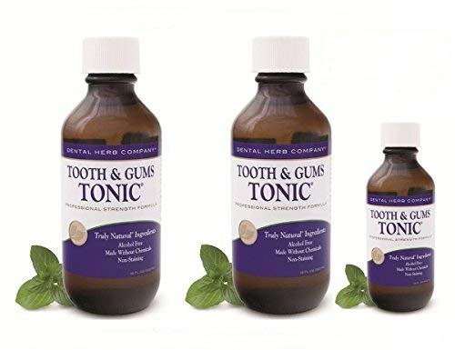Tooth and Gums Tonic - Value Pack 2 Bottles + 1 Free Tonic Travel Size - Teeth And Gums