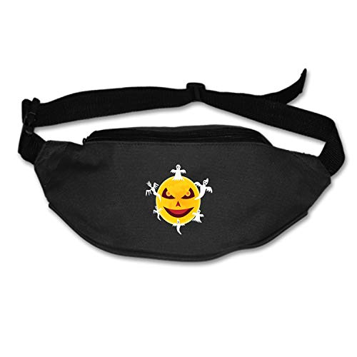 Michael Trollpoe Fanny Pack Halloween Devil Moon Ghost Waist Pack Bag Men Women Waterproof Lightweight Hip Bum Bag Workout Travel Running Hiking Cycling Black]()