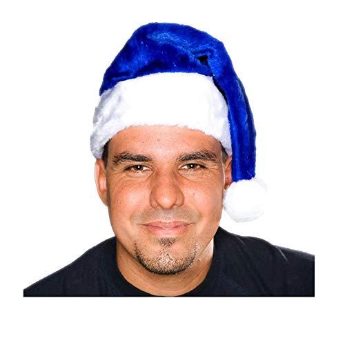 Century Novelty Adult Blue Plush Santa