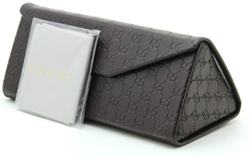 Gucci Tri-fold Leather Glasses Sunglasses Case w/Cleaning Cloth, Extra - Designer Sunglasses Gucci