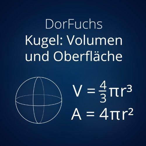 kugel volumen und oberfl che mathe song by dorfuchs on. Black Bedroom Furniture Sets. Home Design Ideas