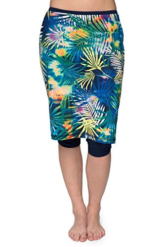 HydroChic Inspire Swim and Sport Skirt - Chlorine Proof - Night Swim/Navy, 2X Plus by HydroChic
