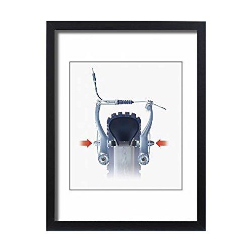 f Illustration of bicycle V-brake, brake pads being squeezed (13547463) (Dimension Rim Brake)