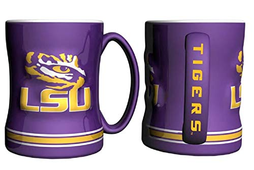 NCAA Louisiana State - Relief Coffee Mug (2) | LSU Tigers 14 oz. Ceramic Coffee Cup - Set of 2 - Lsu Tigers Ceramic